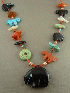 Zuni Animal Fetish Necklace - $875.00