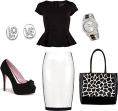Giraffe Goes 2 Work, HollaHey Collection, created by vendetts on Polyvore