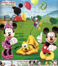 $6 Amazon.com: Disney Mickey Mouse Clubhouse Wooden Puzzle 25 Piece: Toys & Games