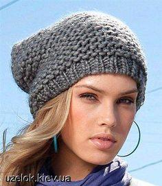 схемы вязания шапок из толстой пряжи
