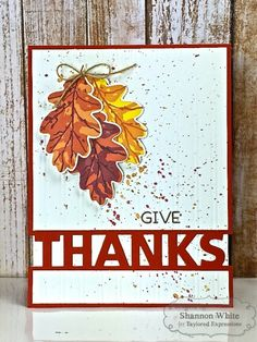 Simply Stamped Give Thanks Card (individual) by Shannon White*