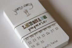 mini calendar that can be included in the invitations