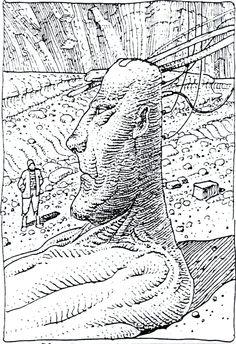 Art by Moebius (Jean Giraud) Jean Giraud Moebius, Moebius Art, Comic Book Artists, Comic Artist, Manado, Frank Margerin, Nogent Sur Marne, Heavy Metal, Comics