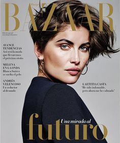 Laetitia Casta Stuns With Short Hair On Harper's Bazaar Spain