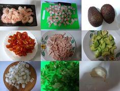 Receitas de cozinha: Receita de camarão com abacate