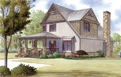 House Plan 82409 | Country Farmhouse Southern Plan with 3307 Sq. Ft., 3 Bedrooms, 5 Bathrooms