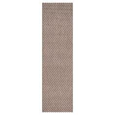 Tabatha Indoor/Outdoor Rug - Light Brown / Light Grey - 2'-3 X 12' - Safavieh