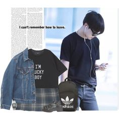 Hoseok: i can´t remember how to leave by yxing on Polyvore featuring Levi's, Cacharel, Windsor Smith, adidas Originals, Casio, kpop, bangtan and Jhope