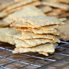 Rosemary Cornmeal Crackers