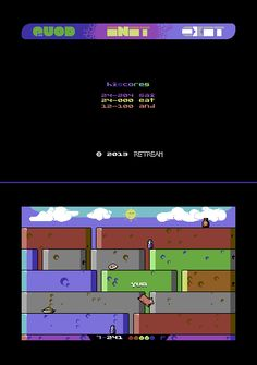 QUOD INIT EXIT by @saimobvq for the C64 (!) updates to version 1.4! #gamesinitaly #indiegames #videogames