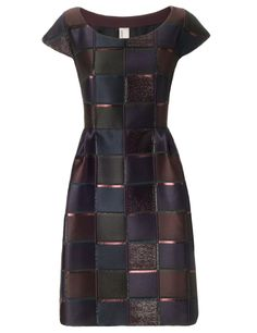 Bordeaux Shimmer Plaid Dress | Antonio Marras | Avenue32