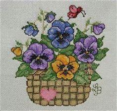 punto de cruz patrones flores - Bing Imágenes