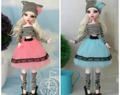 10 colours to choice! Outfit for Monster High / Ever After High  and same doll  1/6 size