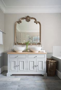 Gold-Framed Victorian Mirror - add a mirror to complete the Victorian look you want.