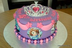 Princess Sofia cake idea. More Sofia party ideas.