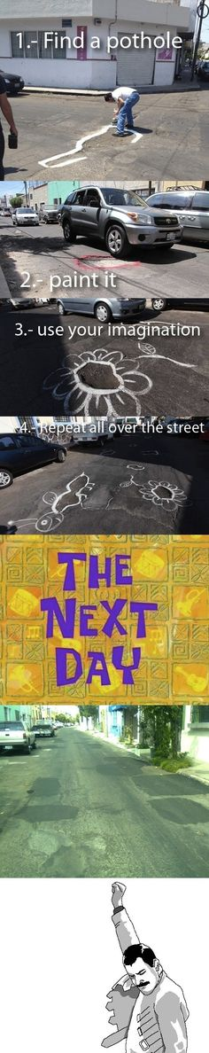 Since they pretty much NEVER fix the roads in Rexburg this might be worth a try =P
