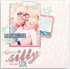I love your silly side LO--I love the title, hand stitched title word #ClippedOnIssuu from Jot Magazine Issue 10