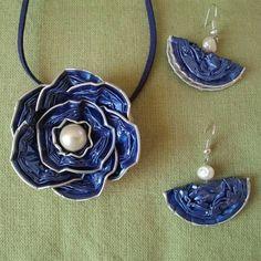 nespresso foil cup necklace choker brooch ring earrings