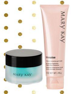 Set Navidad: Mascarilla Hidratante y Renovadora en Gel TimeWise y Gel Reparador para Contorno de Ojos Indulge - Mary Kay