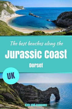 The Jurassic Coast, Dorset, is one of the most spectacular stretches of coastline in the UK. Find out where some of the best beaches are along this part of the coast, on the Isle of Purbeck between Lulworth Cove and Durdle Door. Best Uk Beaches, British Beaches, British Seaside, Road Trip Europe, Europe Travel Guide, Bournemouth, Travel Couple, Family Travel, Lulworth Cove