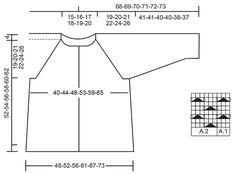 """Touch of Heather Cardigan / DROPS 172-31 - Sweter rozpinany z reglanem DROPS przerabiany z góry na dół, ze ściegiem ażurowym, z włóczki """"Kid-Silk"""". Od S do XXXL. - Free pattern by DROPS Design"""