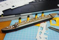 PAPERMAU: British Passenger Liner RMS Titanic Paper Model In 1/1200 Scaleby Masayui