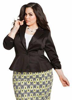 ae0522146d75 Ashley Stewart Women s Plus Size Peplum Scuba Blazer