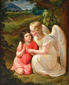 The Guardian Angel by Johann Georg Meyer von Bremen (1813 – 1886)