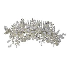 Halo and Co Opal Bridal Comb - Bridal Jewellery - Crystal Bridal Accessories