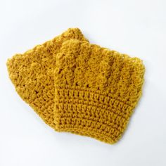 "FREE SHIPPING - Crochet, Bobble, Boot, Cuff - Womens - Gold, Yellow. Coupon code ""Pin10"" saves you 10%! #christmas #gift #giftguide #giftsforher #crochet #etsy #yarn"
