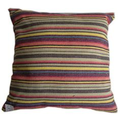 Striped Canvas Pillow
