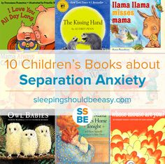 Looking for picture books to ease separation anxiety in your child? If your child is upset about being away from you, these 10 children's books about separation anxiety will help your baby, infant, toddler or big kids. Perfect for entering a new school or meeting a new caregiver!