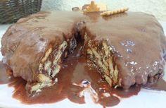 Πανεύκολη τούρτα ψυγείου με μπισκότα πτι μπερ σοκολάτας