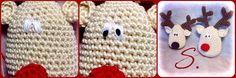 Tutorial ultimo passo Gli occhi di Rudolph  Amigurumi uncinetto christmas crochet