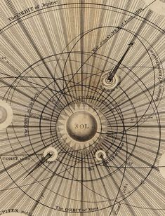 Thomas Wright's Celestial Map of the Universe, 1742 / Sacred Geometry <3