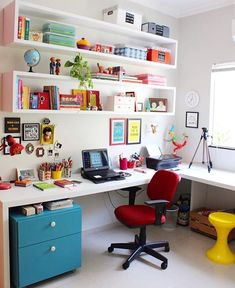 Kinderzimmer Junge Home Room Design, Home Office Design, Home Office Decor, Home Decor Bedroom, House Design, Study Room Decor, Home Office Space, New Room, House Rooms