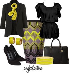 """""""Pop of Yellow"""" by angkclaxton on Polyvore"""