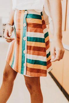 Kayla gestreifter Rock Rock skirt skirt skirt skirt outfit skirt for teens midi skirt Mode Outfits, Fall Outfits, Fashion Outfits, Womens Fashion, Fashion Tips, Fashion Trends, Fashion Fashion, Fashion Ideas, Spring Summer Fashion