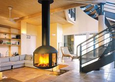 Hanging Fireplaces Adding Chic To Contemporary Interior Design