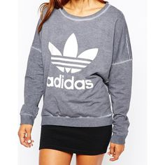 adidas PE Sweatshirt With Washed Detail ($77) ❤ liked on Polyvore featuring tops, hoodies, sweatshirts, adidas sweatshirt, adidas, logo sweatshirts, stretch top and stretchy tops