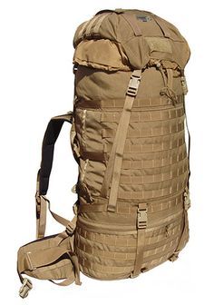 Kifaru MMR Ruck - 1,000 d Cordura, 5,200 c.i./85.2 liters, 9 lbs., 1 oz./4.1kg. (with frame), Access: Top & sleeping bag Accepts all MOLLE compatible pockets, Ample PALS webbing allows pockets to be added to top, side and front