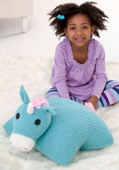 Unicorn Pillow Pal in Red Heart Super Saver Economy Solids - LW2509. Discover more Patterns by Red Heart Yarns at LoveKnitting. The world's largest range of knitting supplies - we stock patterns, yarn, needles and books from all of your favorite brands.