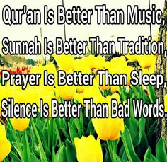 Quran, Sunnah, Prayer and silence. Islam