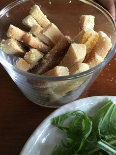 高野豆腐の無臭ココナッツオイルおやつ
