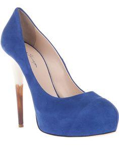 Chiara Ferragini shoes. Love the heel.