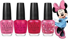 OPI Minnie Mouse Nail Polish  http://www.shefinds.com/2012/move-over-miss-piggy-minnie-mouse-got-her-own-bitchin-line-of-hop-pink-polish/#