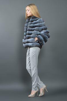 Light Blue Chinchilla Jacket