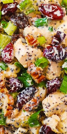 Cranberry Pecan Chicken Salad with Poppy Seed Dressing is an easy recipe that a whole family would love! It's a great side dish or light dinner. Cranberry Pecan Chicken Salad with Poppy Seed Dressing Pecan Chicken Salads, Chicken Salad Recipes, Salad With Chicken, Chicken Salad With Cranberries, Poppy Seed Chicken Salad Recipe, Recipe Chicken, Cranberry Chicken Salad Sandwich Recipe, Chicken Salad Dressing, Cranberry Salad Recipes