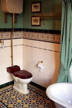 Victorian bath with Winckelmans 'Petersham' tile floor Victorian Bath, Tile Floor, Entrance, Toilet, Sink, Flooring, Inspiration, Bath, Sink Tops