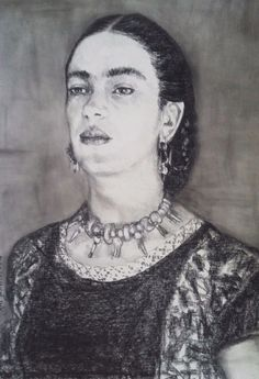 Amazing Frida Kahlo painting by Mexican artist Amy Gastelum art pastel